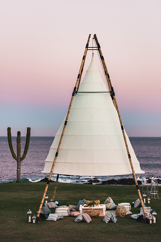 Baja California Beach Wedding Setup
