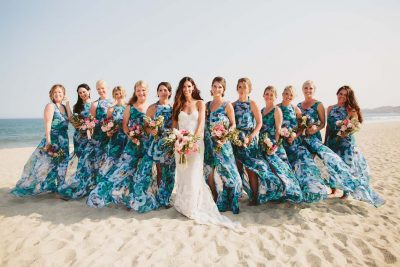 Happy Bridesmaids at a Cabo Destination Wedding